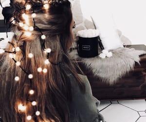 girl, light, and christmas image