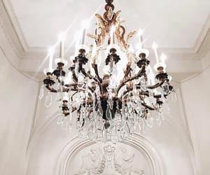 chandelier, light, and luxury image