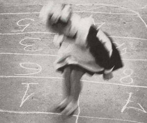 hopscotch and little girl image