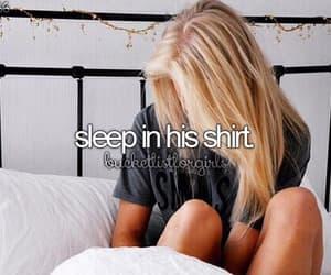 bucket list, sleep, and shirt image