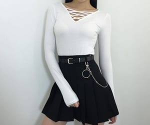 asian girl, dark, and fashion image
