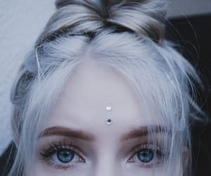 blonde, lashes, and whitehair image