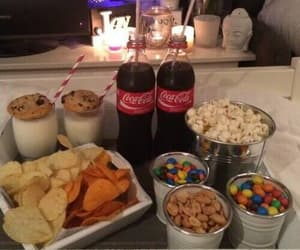 food, netflix, and coca cola image