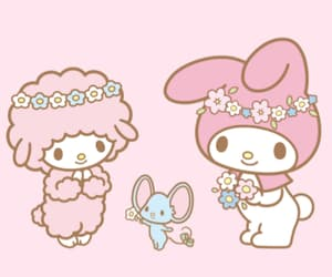 aesthetic, hello kitty, and my melody image