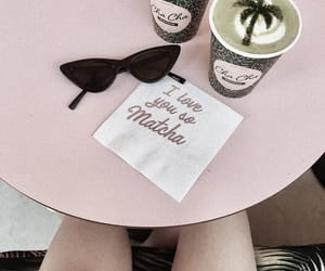 coffee, pink, and drinks image