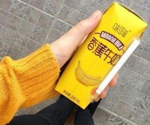 yellow, drink, and banana image