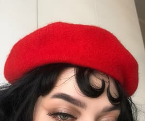 red, makeup, and tumblr image