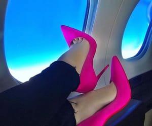 heels, high heels, and pink image