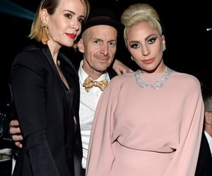 Lady gaga, denis o'hare, and sarah paulson image