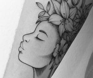 beautiful, inked, and flower image