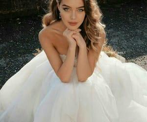 beauty, girl, and wedding image