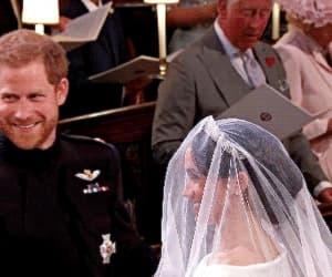 gif, royal wedding, and couple image