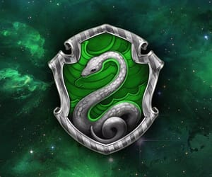 hogwarts, slytherin, and snakes image