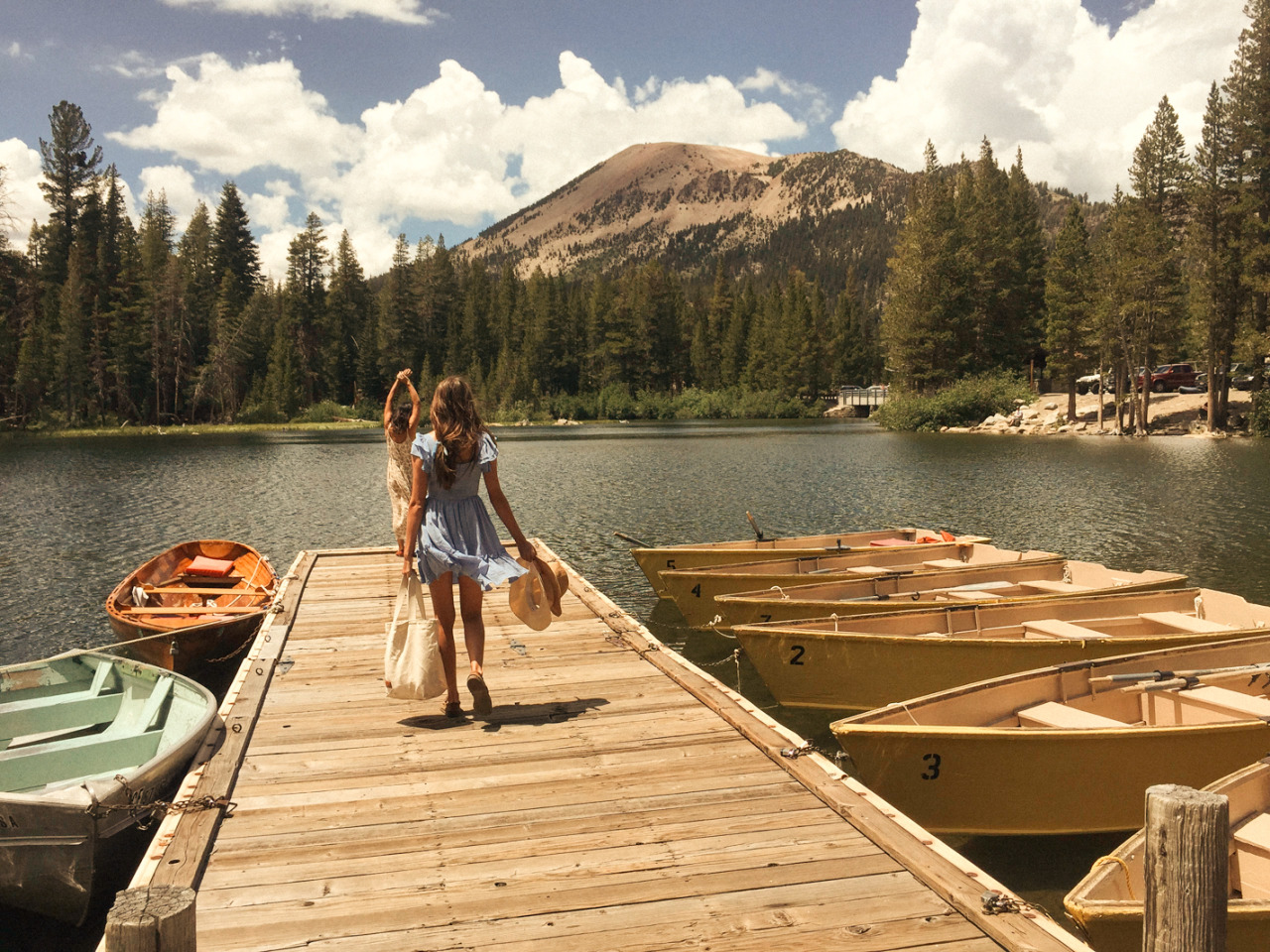mountains, summer, and lake image