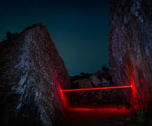 nature, night, and red image