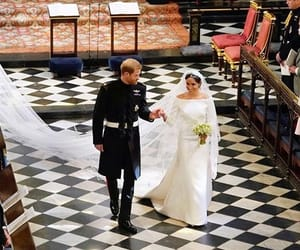 royal wedding, wedding, and meghan image