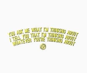 Lyrics, quote, and thinking image