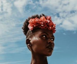 melanin, beauty, and flowers image