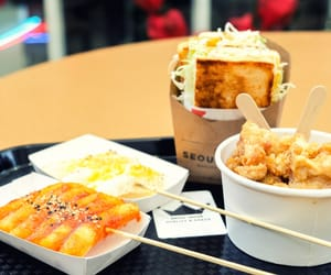 food, korean food, and korean snacks image