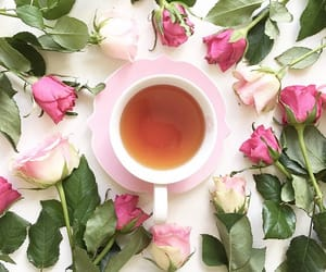 flowers, tea party, and pink image