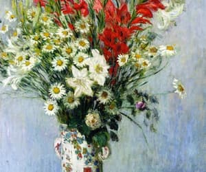 claude monet, gladiolas, and dasies image