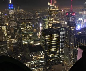 empire state, night view, and nyc image