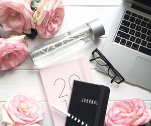 flowers, flatlay, and journal image