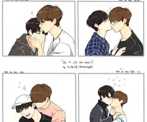 couple, yoonkook fanart, and kookgi image