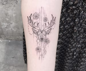 fashion, tattoo, and cerf image