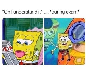cartoon, exams, and funny image