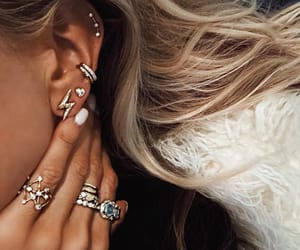 earrings, jewels, and piercing image