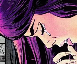 pop art, sad, and cry image