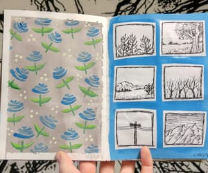 Art Book, art journal, and floral pattern image