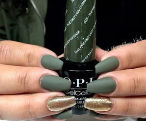 matte, nails, and olive image
