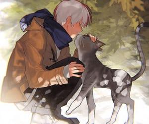 anime, boku no hero academia, and cat image