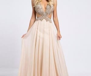 long prom dresses, backless prom dress, and beading prom dress image