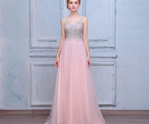 beading, prom dresses, and a-line princess image
