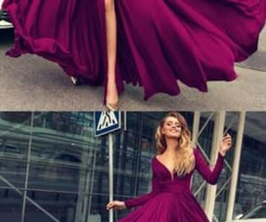 long sleeves prom dresses and sexy plunge prom dress image