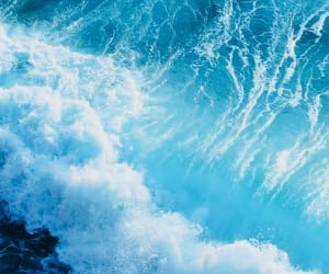 blue, wallpaper, and wave image