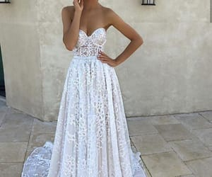 dress, lace, and 2018 image