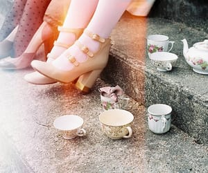 shoes, vintage, and tea image