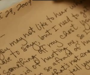 diary, handwriting, and journal image