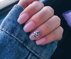 nails, pink, and shine image