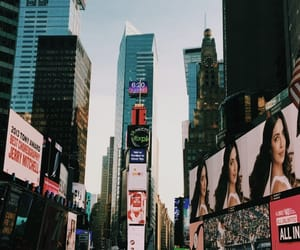 city, manhattan, and times square image