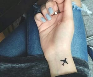 tattoo, airplane, and travel image