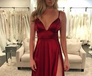 v neck prom dress and burgundy prom dress image