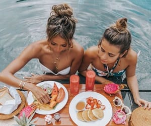 food, travel, and love image