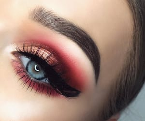 beauty, makeup, and eyelashes image