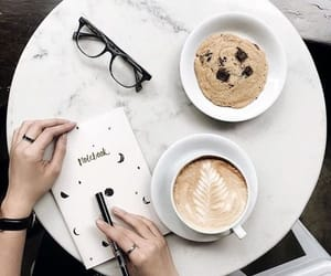 coffee, cookie, and Cookies image