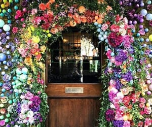 flowers, door, and colors image